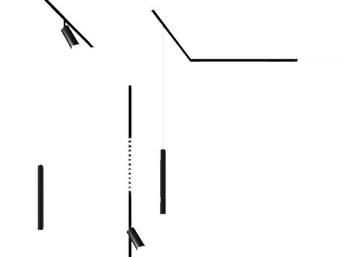 磁吸吊装射灯