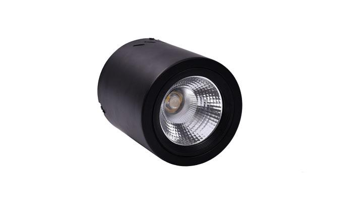 黑色明装筒灯